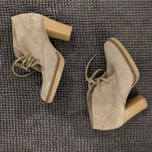 J.Crew suede oxfords with heel - size 9